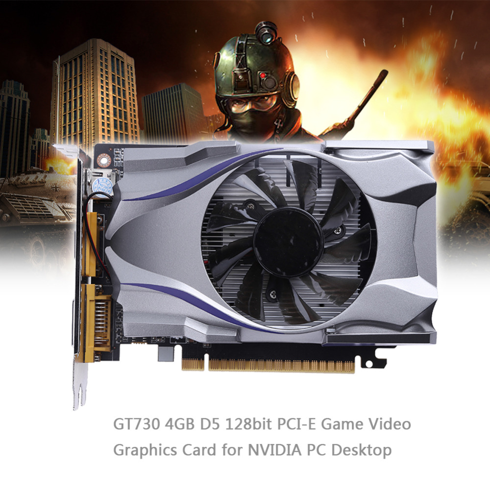 1Pcs GT730 4GB D5 128bit PCI-E Game Video Graphics Card for NVIDIA PC Desktop Video Carte Graphique Video Card Graphics Cards yeston geforce gt 1030 gpu 2gb gddr5 64 bit gaming desktop computer pc video graphics cards support