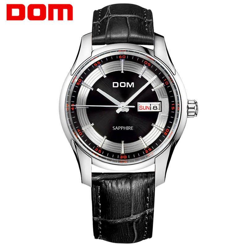DOM Top Brand men watches luxury waterproof quartz Business leather man watch reloj hombre marca de lujo M-517 dom top brand quartz watch for men luxury waterproof business watches fashion leather strap clock reloj hombre marca de lujo m41