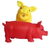 Hot Cleaning Teeth Dog Cat Chewing Toy Pig Squeak Cute Rubber Pet Dog Puppy Playing Pig Toy Squeaker Squeaky With Sound