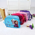 Children's school bags,Snow Queen elsa anna Cartoon Children Food Bag Lunchbox Kids For Girls Zoo Lunch Thermal Bag