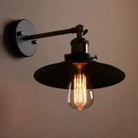 E27 Retro Metal Hanging Lampshade Edison Vintage Antique Industrial Bowl Sconce Loft Rustic Wall Light Lamp