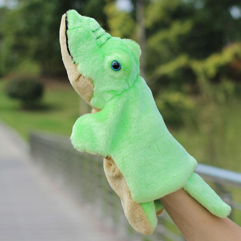 Plush Hand Puppets Teddy Bear Donkey Crocodile Dolphin Hand Doll Puppet Baby Early Educational Toys Birthday