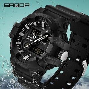 Image 4 - SANDA Sports Mens Watches Luxury LED Digital Military Quartz Watch Men Waterproof G Style Wristwatches relogio masculino Clock