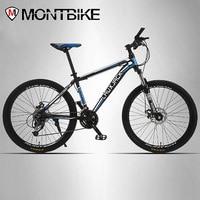 LAUXJACK Mountain Bike Aluminum Frame 24 27 Speed Shimano Mechanical Disc Brakes 26 Wheels