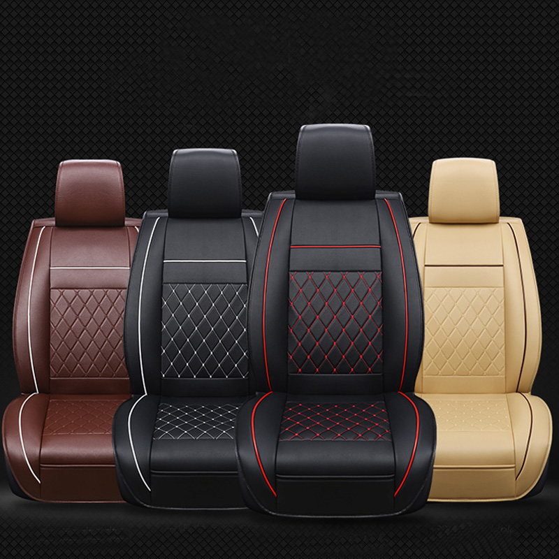 Waterproof Car Seat Covers Universal PU Leather Auto Front Cushion Protector Pad Mat Fit Most Accessories Interior