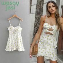 2019 fashion Dress women Banana printing elastich bust strapless ruffes vestidos summer sexy mini dress