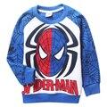 Espesar Fleece Hoodie de los cabritos muchachos Spiderman Hoodies y sudaderas ropa de los niños Vingadores Moleton Infantil Polerones Nina