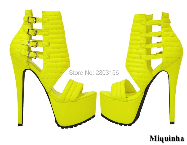 Hot Sale Platform Women Summer Shoes Open Toe High Heels Sandals Buckle Strap Cut Out nightclub Sandals Shoes anmairon shallow leisure striped sandals women flats shoes new big size34 43 pu free shipping fashion hot sale platform sandals