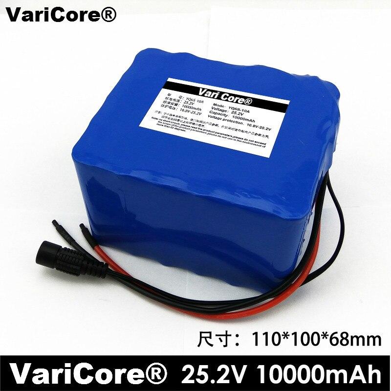 VariCore 6S5P 18650 24 V 10Ah Li-ion batterie 25.2 V 10000 mAh cyclomoteur vélo électrique/électrique/Lithium batterie Ion paquet