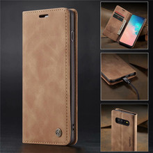 360 Magnetic Case Voor Samsung Galaxy S10 Retro Magnetische Wallet Leather S10E Plus S10+ Flip