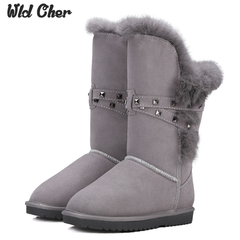 High quality Warm winter snow boots real cowhide leather Women casual fashion sewing comfort Artificial fur custom-made boot only true love high quality women boots winter snow boots