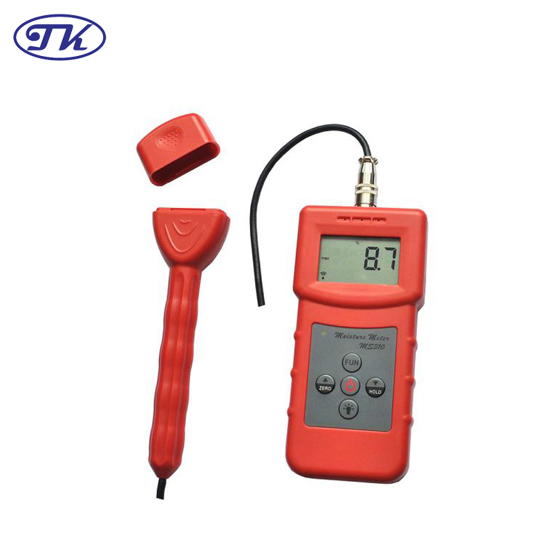 MS310-S Bamboo,Carton,Concrete,Textile ,Wood,Timber,Paper Inductive Moisture Meter mc 7806 digital moisture analyzer price with pin type cotton paper building tobacco moisture meter