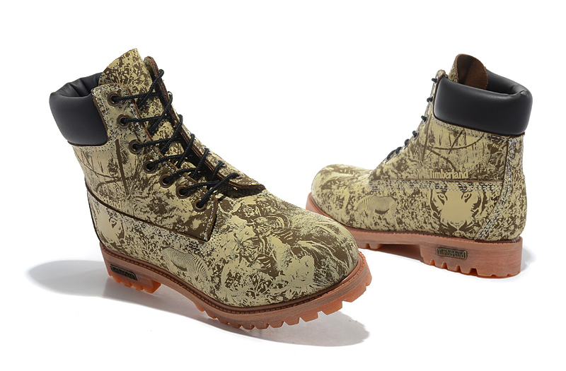 Original Super TIMBERLAND Animal Prints Men Premium Ankle Martin Boots,Man Genuine Leather Timber Outdoor Casual Shoes 10083 3