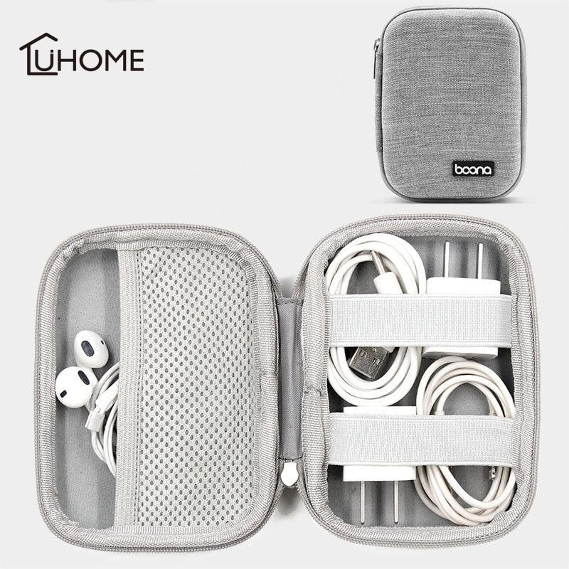 EVA Shockproof Digital Storage Bag USB Data Cable Earphone Power Bank Mobile HDD Storage Organizer Portable Travel Kit Case