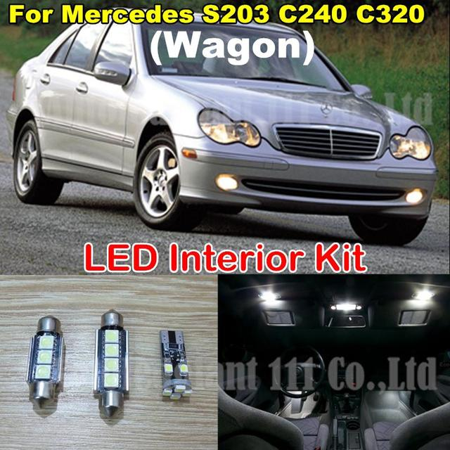11x white dome trunk led lighting package for mercedes benz s203 2003 Mercedes Benz C32 Amg 11x white dome trunk led lighting package for mercedes benz s203 c240 c320 c class
