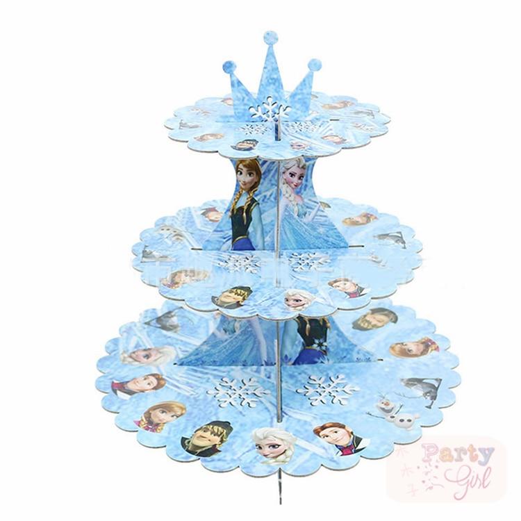 Princess 3-Tier Cupcake seista magustoit lauapidu teenetemärgi - Pühad ja peod - Foto 1