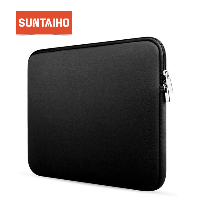 0b3869d5d1dd6 Yeni Yumuşak Kol laptop çantası macbook çantası Hava Pro Retina 11 13 15 inç  fermuarlı çantalar