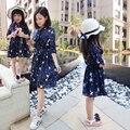 Hija de la madre viste la Nueva vestido floral Bowknot grande flojo vestido de gasa a juego de madre e hija de ropa 20 #