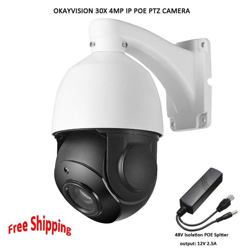 Okayvision POE PTZ Camera 4MP 5inch Mini Size Network Onvif ptz ip 30x zoom ptz ip camera with 60m IR for Free Shipping wholesale hvt 2601 3 5 tft lcd camera cctv poe tester ptz controller zoom dvr