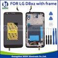 1 pcs display lcd para lg optimus g2 d802 d805 f320 com tela de toque digitador assembléia com frame + ferramentas