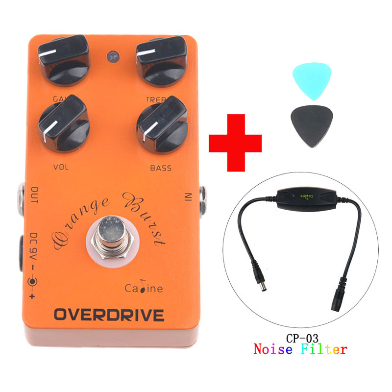 Caline CP-18 Overdrive Guitar Effect Pedal Orange Amplifier CP18 Guitar Pedal  Accessories and Caline CP-03 Noise Filter overdrive guitar effect pedal