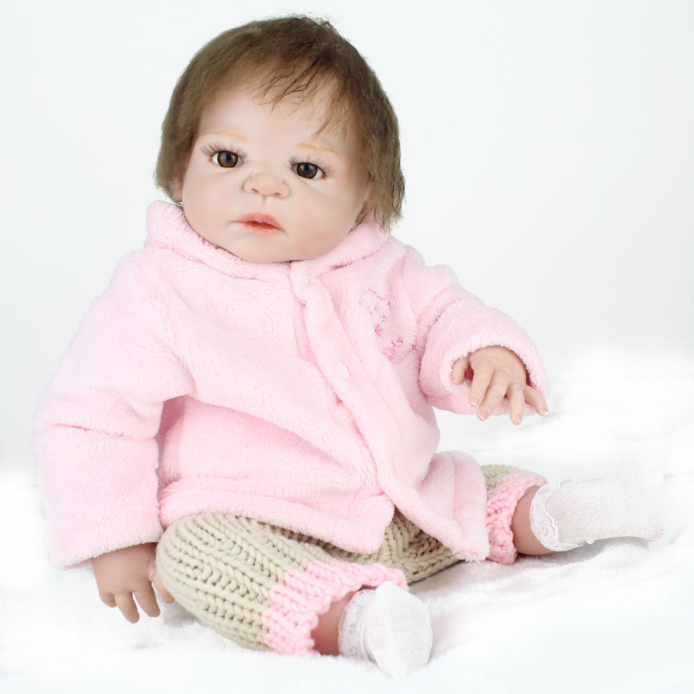 KAYDORA Doll Reborn Full Body Siliocne 55 Toys For Children 3 Years Beauty Grace Hair Cute Baby Dolls Little People Toys    KAYDORA Doll Reborn Full Body Siliocne 55 Toys For Children 3 Years Beauty Grace Hair Cute Baby Dolls Little People Toys