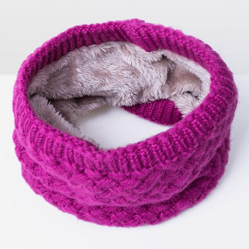 Зимний теплый шарф вельветовый хлопковый шарф на шею для мальчиков и девочек удобный для мужчин и женщин - Цвет: Rose Red