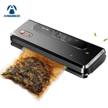 ANIMORE Automatic Vacuum Sealing Machine For Household Use Multi-function Vacuum Sealer Keep Fresh Up To 7x Longer With 10 Bags automatic bag sealing machines