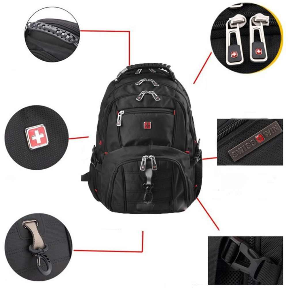 防水ナイロン旅行バッグ 15 インチのノートパソコンのバックパックコンピュータノートブックスクールバッグ大容量ハイキング登山バッグ