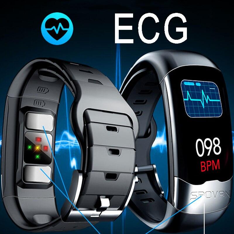 ECG HRV PPG Sports bande intelligente de haute qualité USB bracelet intelligent traqueur de fréquence cardiaque mode Bracelets originaux mesure de forme physique