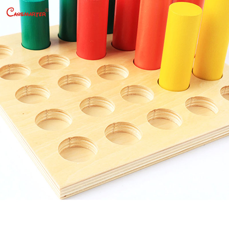 Image 5 - Montessori Sensoiral Toys Geometric Steps Cylinder Maths Toddlers Kingarten Color Training Educational Toy for Children SE041 3-in Math Toys from Toys & Hobbies