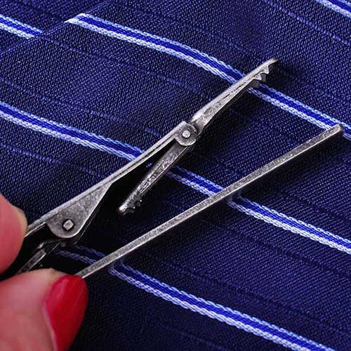 موضة الرجال المعادن بسيطة ربطة العنق مشبك رابطة عنق كليب المشبك دبوس إكسسوار الأعمال هدية