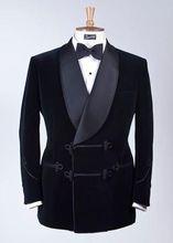 2017 Latest Coat Pant Designs Black Velvet Suits Shawl Lapel Men Suit Slim Fit 2 Piece Tuxedo Custom Prom Blazer Terno Masuclino