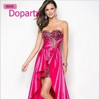 Doparty 2017 removable skirt long pink royal blue imported high low coral two piece turquoise burgundy gossip girl prom dresses