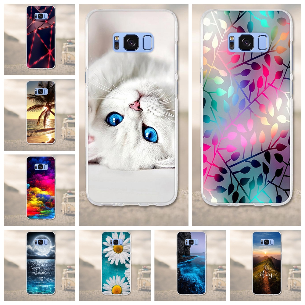 3D Relief Printing Soft TPU Cases For Samsung Galaxy S8 Phone Back Cover Ultra-thin Fundas for Samsung Galaxy S 8 G950F Case