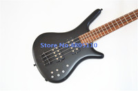 New high quality custom edition black matte 4 string electric bass free shipping