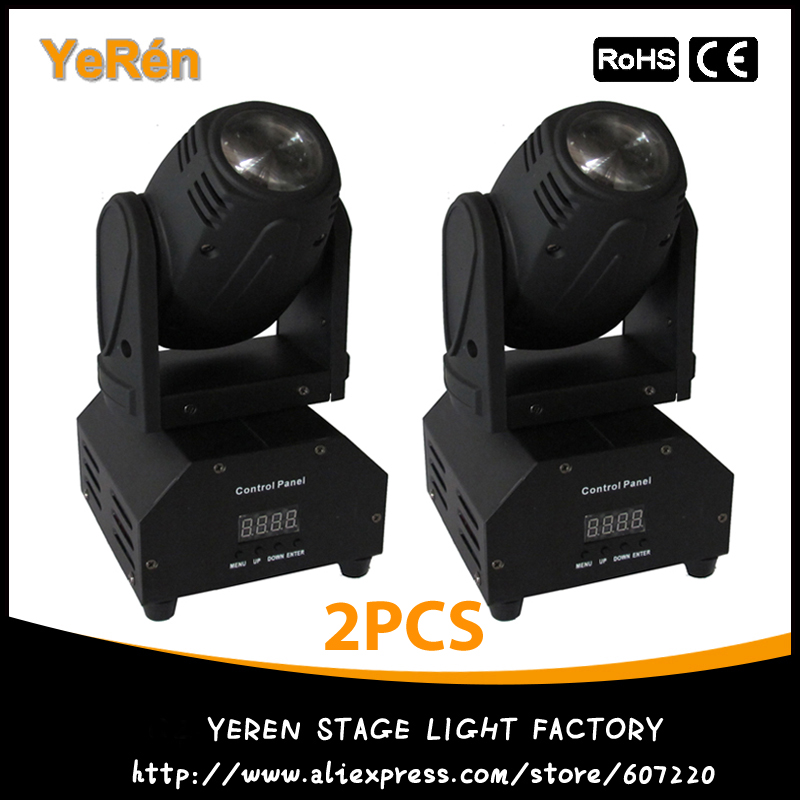 (2PCS) LED Mini Moving Head Beam Light RGBW 10W Cree Led Lamp DMX 12Channels DJ Light for Bar Home PaRty Club Wedding 10w rgbw mini led beam moving head light disco dj stage lighting dmx512 mini 10w led linear beam chandelier 10w wash beam lamps