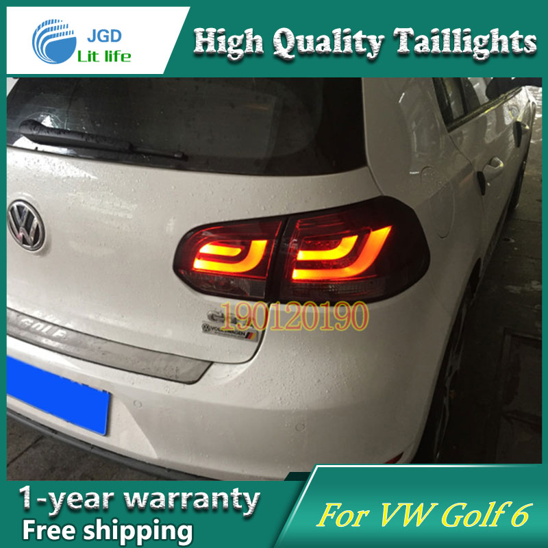 JGD Brand New Styling for VW Golf 6 Tail Lights 2009-2013 LED Tail Light Rear Lamp LED DRL Singal Car Lights