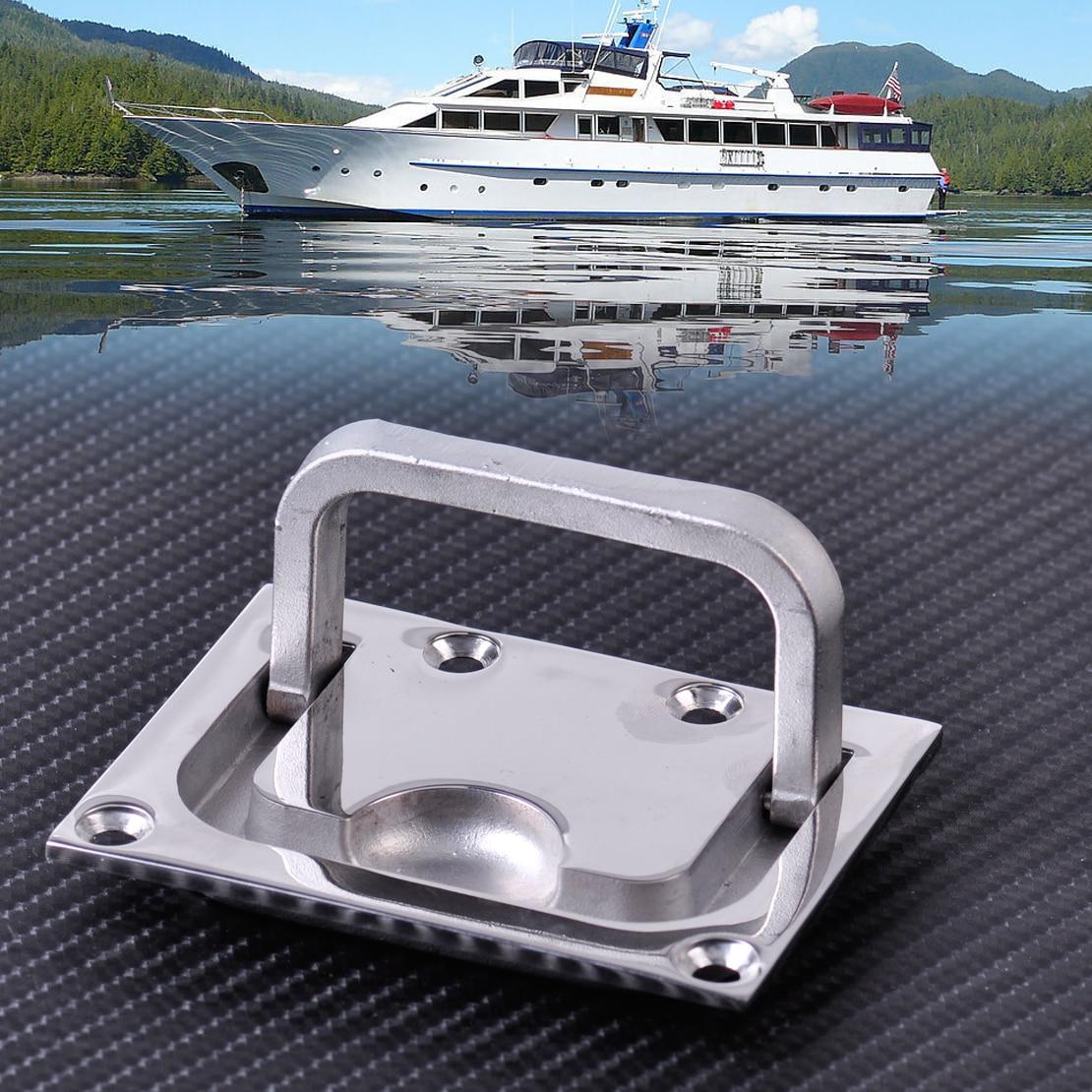 stainless steel boat lift handle marine yacht locker pull