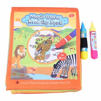 New Water Coloring Drawing Books For Kids With 2 Magic Water Drawing Pen Doodle Mat Learning Educational Toys For Children Gift 80x60cm water drawing mat