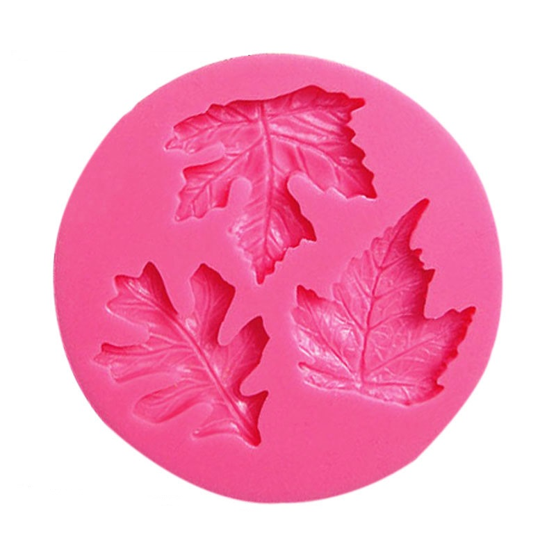 3D Reverse sugar molding Maple leaves shape silicone mould for polymer clay molds accessories cake decoration tool 0764