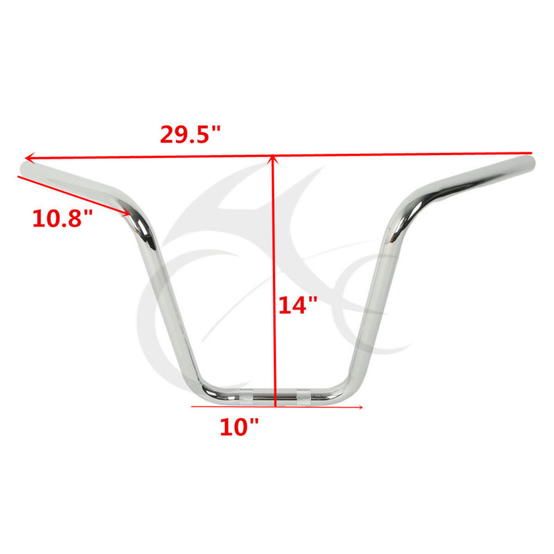 Motorcycle 14 Inch Chrome Black Ape Hanger HandleBar For Harley Sportster XL 883 XL1200 All Year mtsooning timing cover and 1 derby cover for harley davidson xlh 883 sportster 1986 2004 xl 883 sportster custom 1998 2008 883l