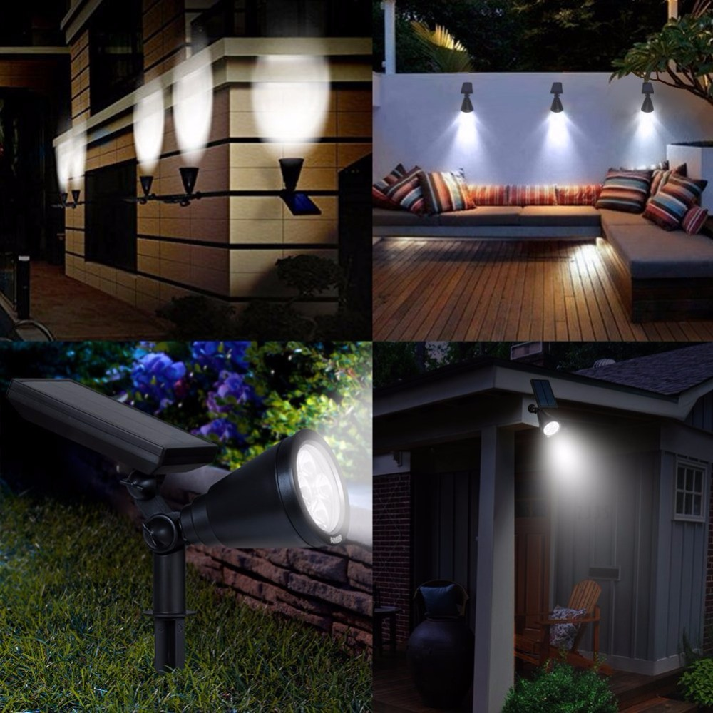 Ground Flood Lights Outdoor Ausida led solar spotlight outdoor waterproof wall night light ausida led solar spotlight outdoor waterproof wall night light landscapein ground flood lighting for lawn garden yard patio in led lawn lamps from lights workwithnaturefo