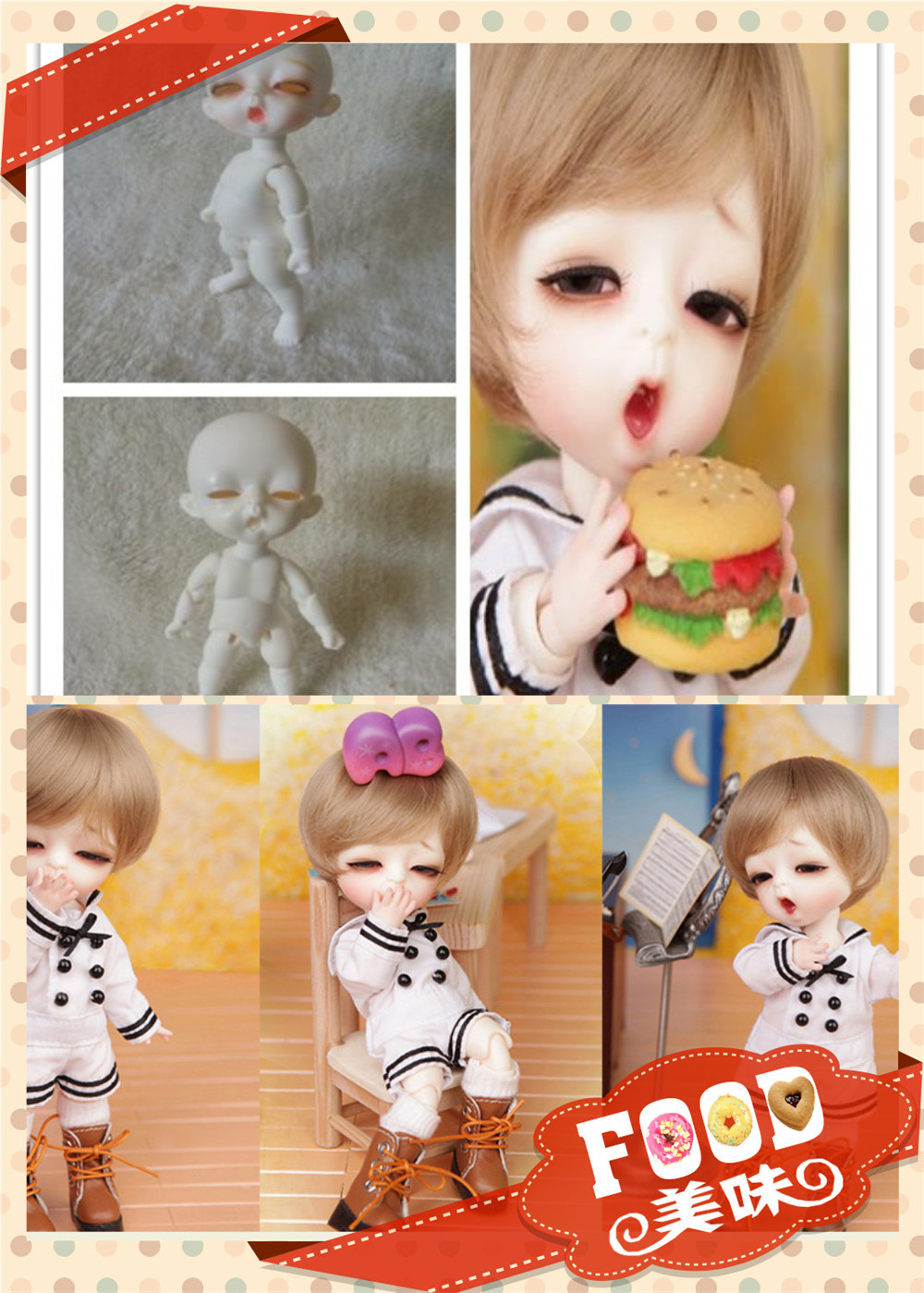 Louis Luts Tiny Delf BJD SD doll 1/8 body model Reborn for little girls boys eyes