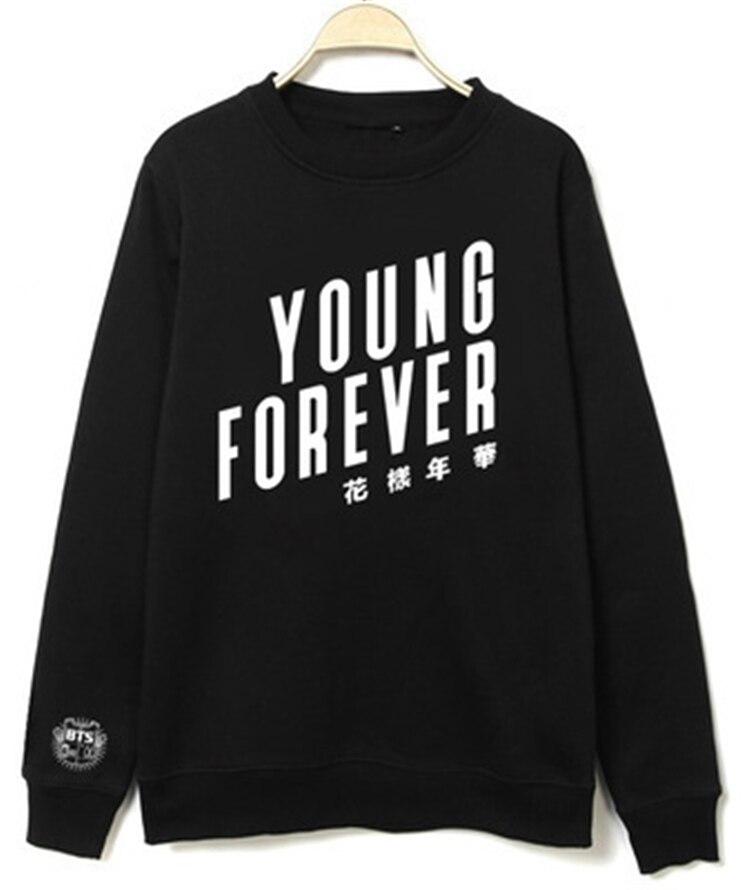 Kpop BTS Bangtan Boys part Mood for Love Young Forever Pullover Sweatshirt MEN WOMEN clothing Shirt coat k-pop bts cotton Hoodie