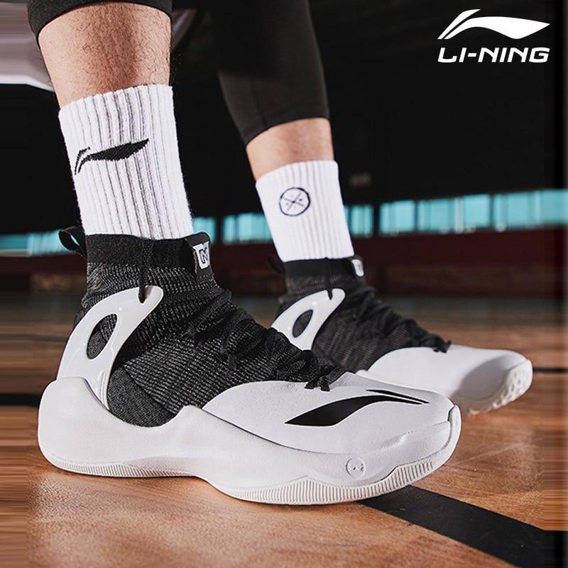 Li Ning Men SONIC VI V2 Professional Basketball Shoes Mono Yarn LiNing Cloud Cushion Sport Shoes