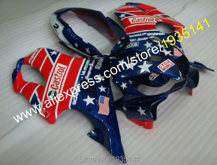 For <font><b>Honda</b></font> CBR600 F4i 2004-2007 <font><b>Parts</b></font> <font><b>CBR600F4i</b></font> 04 05 06 07 USA Flag Bodywork Motorbike Fairings (Injection molding) image