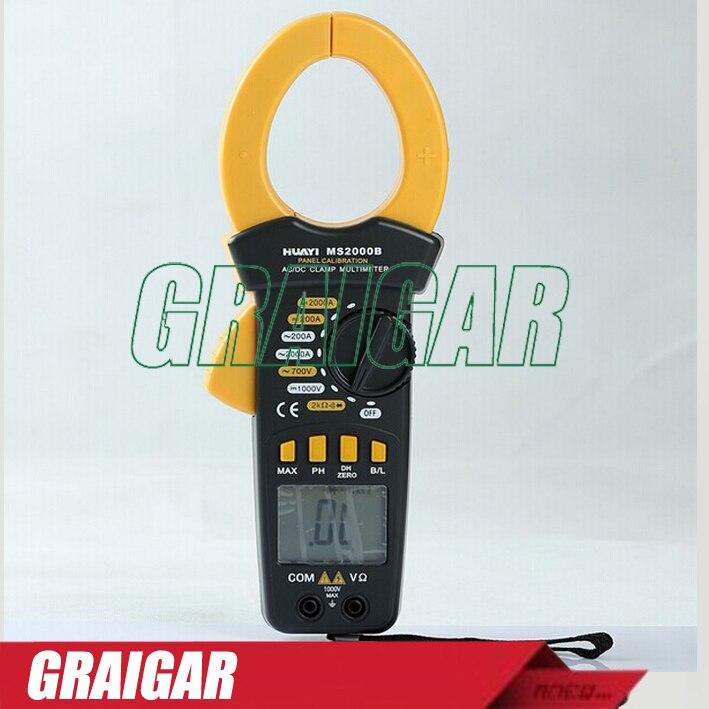 MS2000B Digital Panel Calibrate Clamp Meter Voltmeter Ammeter Clamp Multimeter digital meter clamp ammeter hook 31022a
