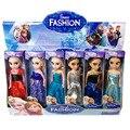 Disney Brinquedos 6 Pçs/set Anime Dos Desenhos Animados filmes Congelado Princesa Anna e Elsa Boneca 16 cm Anna E Elsa Bonito Mini Bonecas presente