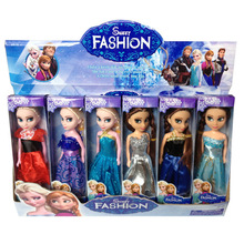 USA 8 Corp All Disney Toys 6 Pcs/Set Anime Cartoon movies Frozen Princess Anna And Elsa Doll 16cm Anna And Elsa Cute Mini Dolls Gift